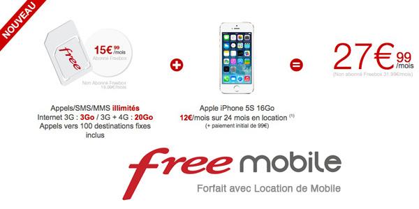 free mobile location mobile pas cher Free Mobile lance la Location de Smartphones à Prix Cassé