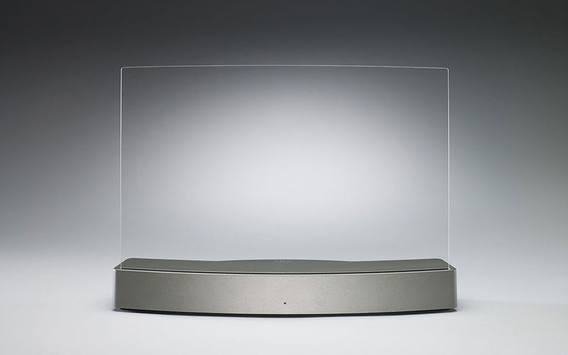ClearView CLIO Haut Parleur Bluetooth Invisible ClearView Clio: Enceinte Transparente sans Fil (iPhone, iPad, Android)
