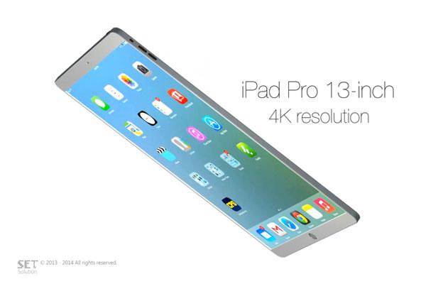 ipad pro 13 pouces 4k concept iPad Pro: Future Tablette 13 pouces Ecran Retina 4K en Vidéo