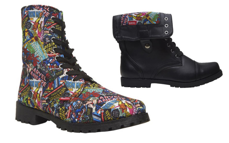 Marvel-Comics-Bottes-Lacets-Super-Heros