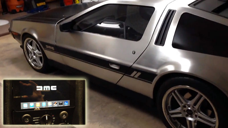 delorean-customisee-avec-CarPlay