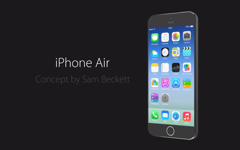 iphone air concept sam beckett iPhone Air: Concept Réaliste pour le Prochain iPhone 2014 en Vidéo