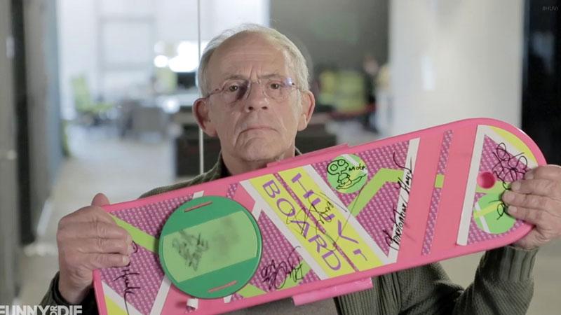 skate volant Le Doc presente ses excuses Retour Vers le Futur: Le Skate Volant était une Grosse FARCE de Funny Or Die