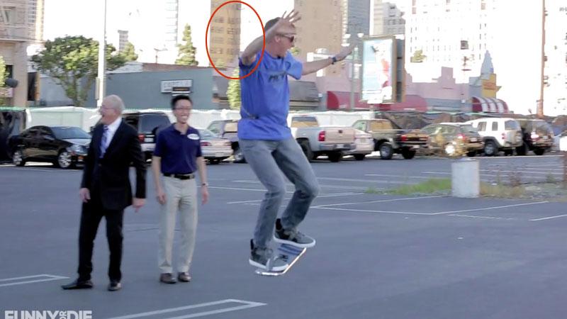 skate volant hoax prank farce Retour Vers le Futur: Le Skate Volant était une Grosse FARCE de Funny Or Die