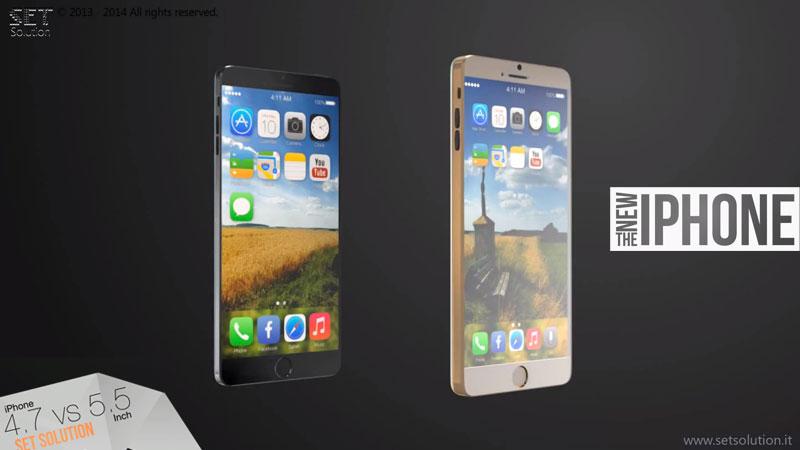 nouvel iphone6 comparatif 47 55p Nouvel iPhone 6: Comparaison Vidéo des Modèles 4.7 et 5.5 pouces
