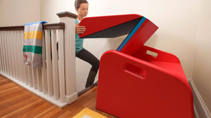 SlideRider-toboggan-ajustable-pour-interieur-maison