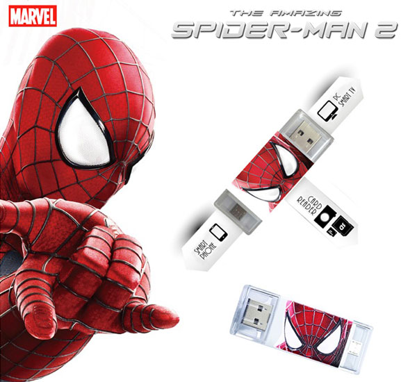the-amazing-spiderman2-lecteur-cartes-SD-USB-OTG-mobile-tablette-pc