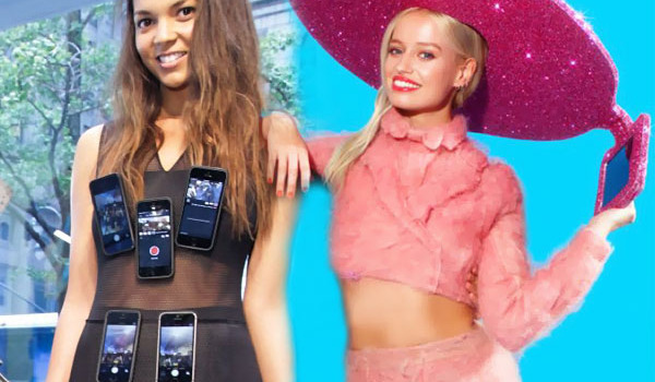Fashion-Week-iPhone-Dress-Selfie-Hat
