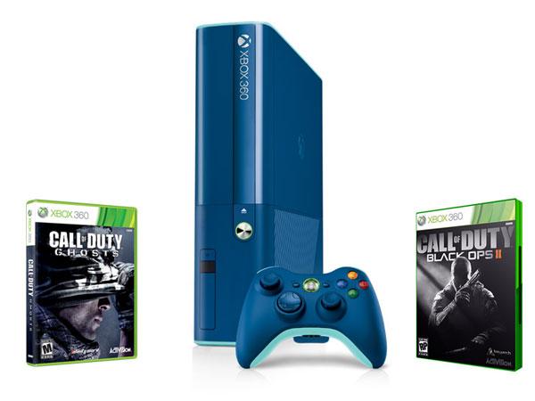 Xbox360-Bleu-Pack-COD-Ghosts-Black-Ops2