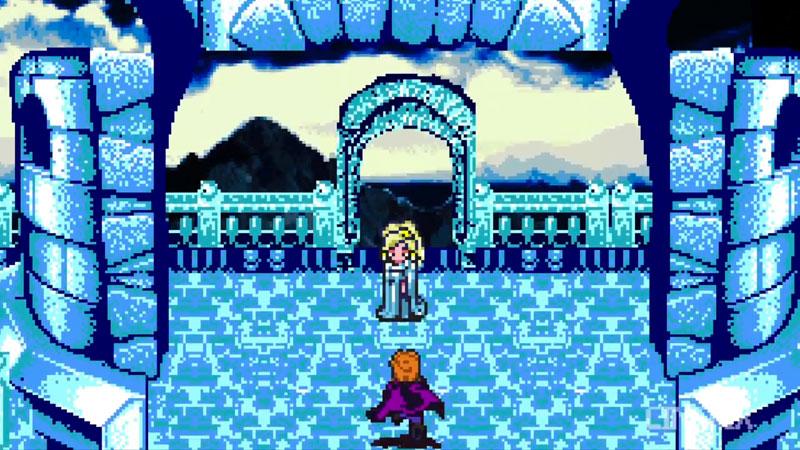 frozen la reine des neiges le jeu 8bit