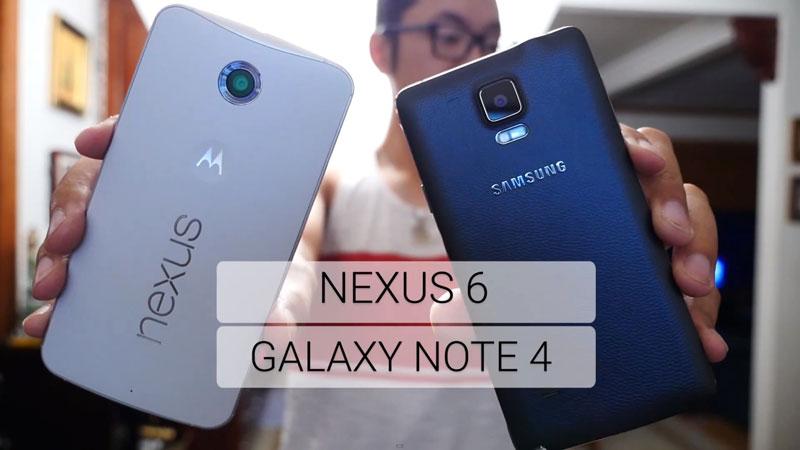 nexus6 ou galaxy note4 que choisir Comparatif Nexus 6 vs Galaxy Note 4: Quelle Phablet Acheter ?