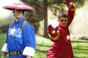 Kung-Fu-Avengers-Iron-Man-vs-Captain-American