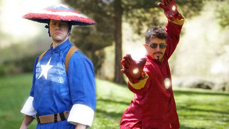 Kung-Fu-Avengers-Iron-Man-vs-Captain-American