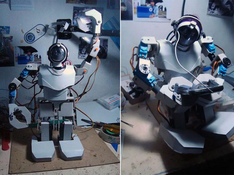 Construire robot humanoide