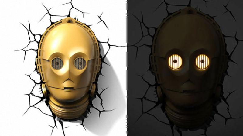 Star Wars Lampe 3d Droid C3po Maxigadgetcom