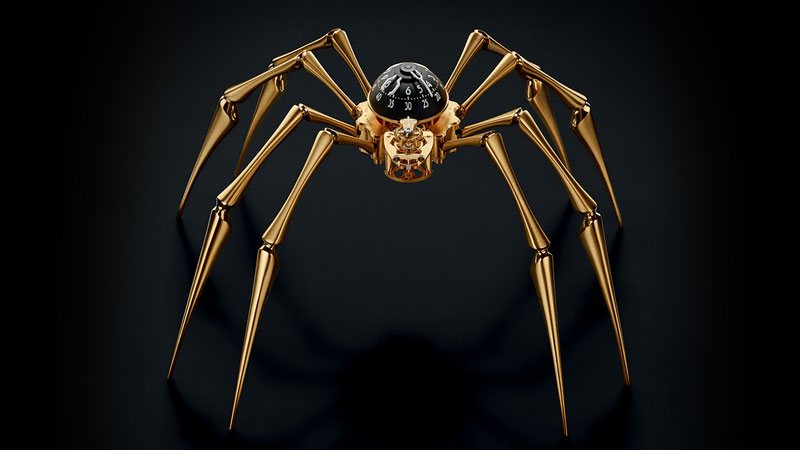 arachnophobia luxueuse montre araignee or pour spiderman