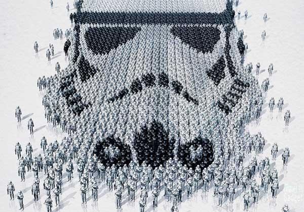 Star Wars Impressionnante Affiche Human Pixel Art Design