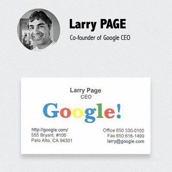 Carte De Visite Larry Page Google