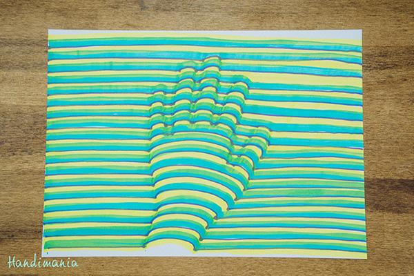 Illusion D Optique Comment Dessiner Une Main 3d En Vidéo