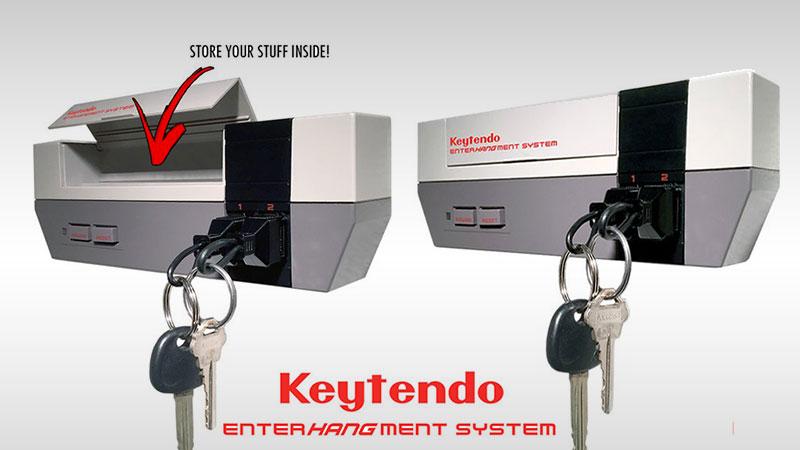 0ef08a12fa11 Keytendo  Porte-Clés Mural en forme de Nintendo NES