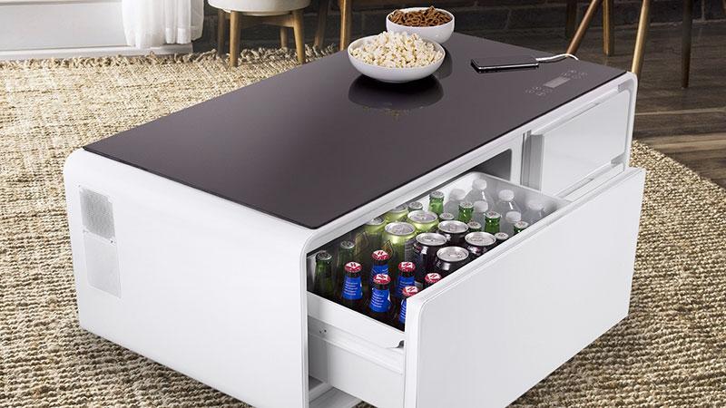 Sobro La Table Basse High Tech Avec Refrigerateur Integre